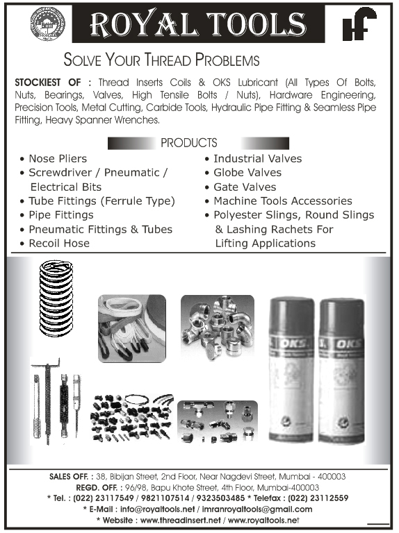 Nuts, Bearings, Hydraulic Pipe Fitting, High Tensile Bolts